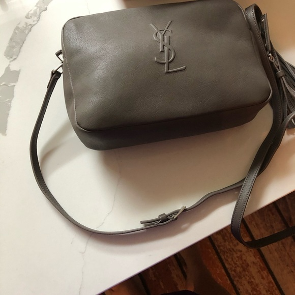 🎉New Authentic YSL Lou Gray Camera Bag 🎉